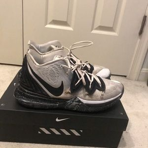 Kyrie 5 white and black